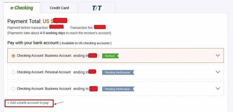 Thanh toán đơn hàng trên Alibaba để hoàn tất quá trình đặt hàng